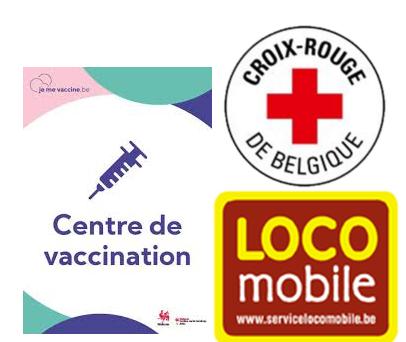 affiche centre de vaccination - locomobile - croix rouge