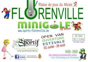 affiche minigolf de Florenville