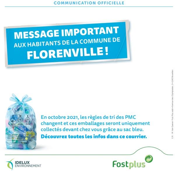 Affiche message important aux habitants de la commune de Florenville